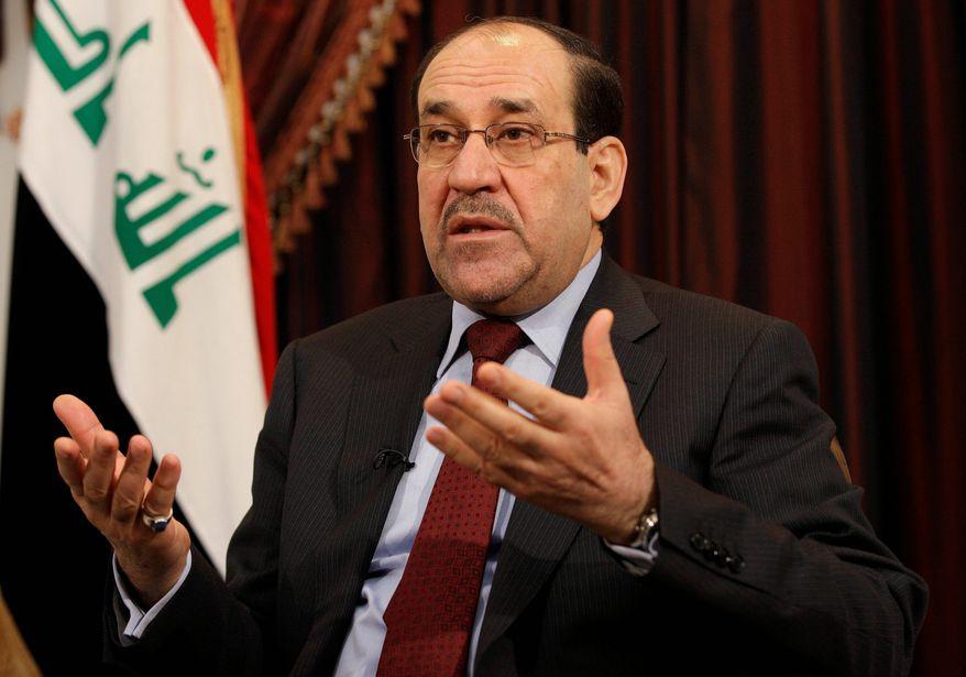 ** FILE ** Iraqi Prime Minister Nouri al-Maliki (Associated Press)