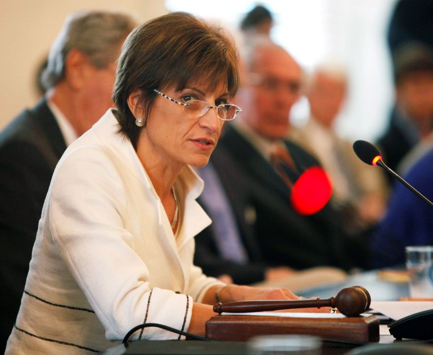 University Rector Helen E. Dragas reportedly told former university president Teresa Sullivan on June 8 that she had enough votes on the board to remove her and that Ms. Sullivan could either resign or be fired.(Associated Press)