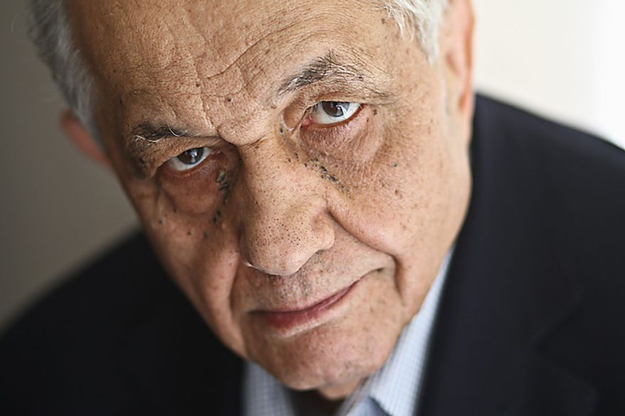 Film critic Andrew Sarris is seen here July 2, 2009, in his apartment in New York. Sarris, a leading movie critic during a golden age for reviewers who popularized the French reverence for directors and inspired debate about countless films and filmmakers, died June 20, 2012 at St. Luke's-Roosevelt Hospital in Manhattan after complications developed from a stomach virus. He was 83. (Associated Press/The New York Times)