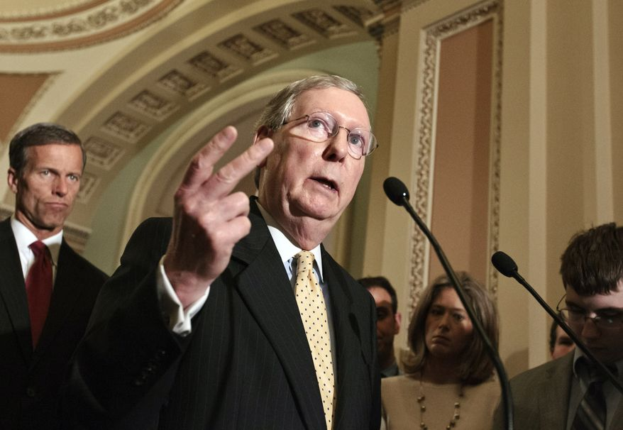 Senate Minority Leader Mitch McConnell, Kentucky Republican. (AP Photo)