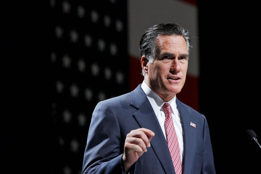 Mitt Romney, speaking at a National Association of Latino Elected and Appointed Officials conference in Florida on Thursday, has pushed the 2012 electoral battleground into union-friendly territory and put organized labor on the defensive in states it typically has little trouble holding. (Associated Press)