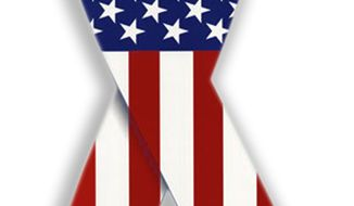 Illustration American Flag Ribbon by John Camejo for The Washington Times