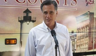 **FILE** Republican presidential candidate and former Massachusetts Gov. Mitt Romney speaks June 19, 2012, in Holland, Mich. (Associated Press)