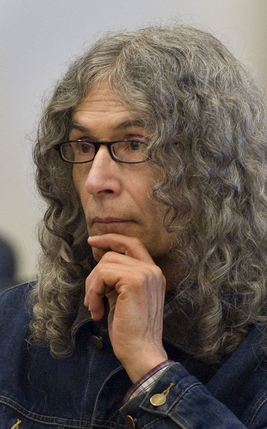 ** FILE ** Convicted serial killer Rodney Alcala listens as victim-impact statements are read in a Santa Ana, Calif., courtroom in March 2010. (AP Photo/Michael Goulding, Pool)