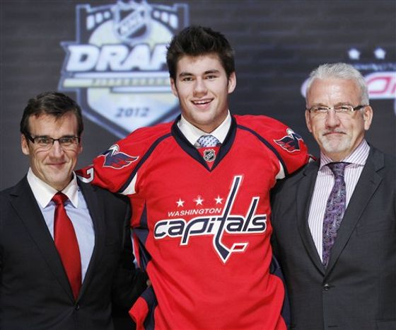 The Caps took Thomas Wilson with the 16th pick in the 2012 NHL draft. (Associated Press)