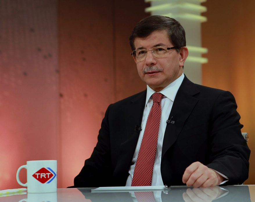 Turkish Foreign Minister Ahmet Davutoglu (AP Photo/Hakan Goktepe, Turkish Foreign Ministry)