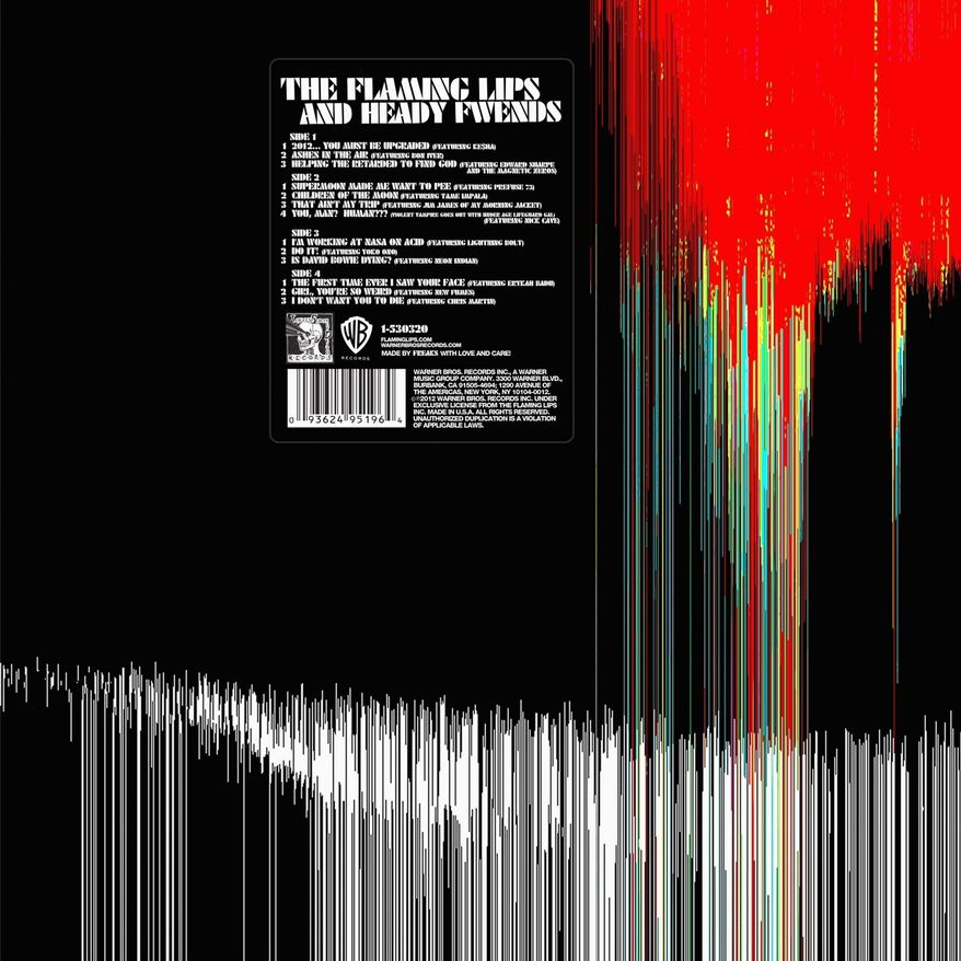 "Cover art for the Flaming Lips' ""The Flaming Lips and Heady Fwends"""