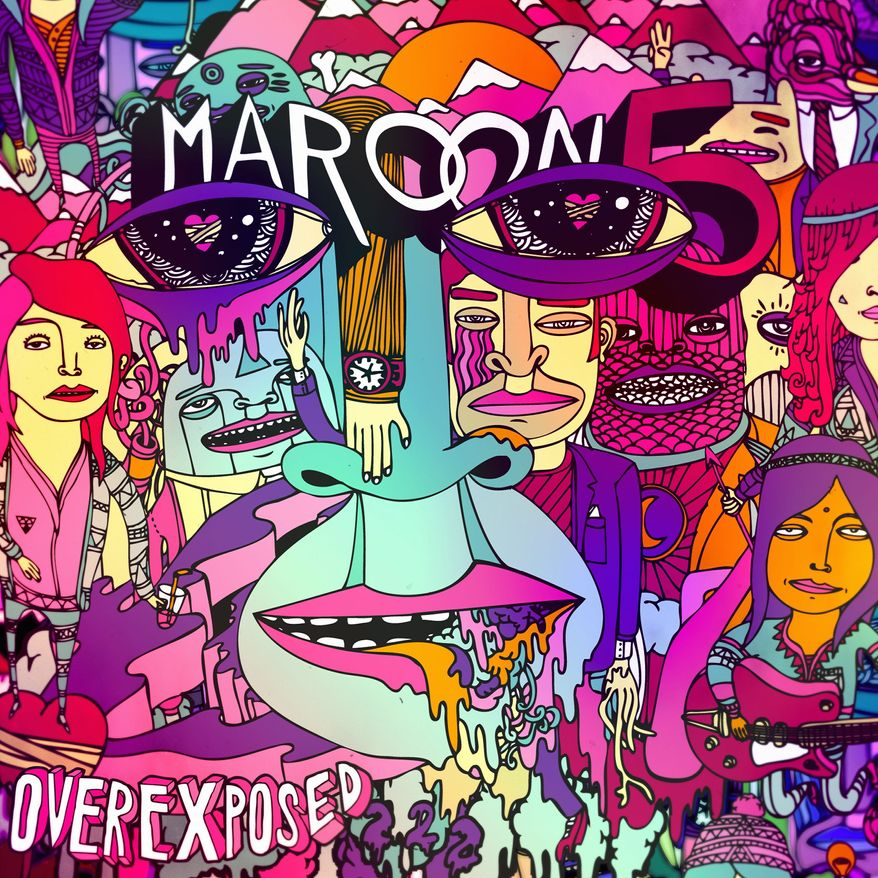 "Cover art for Maroon 5's ""Overexposed"""