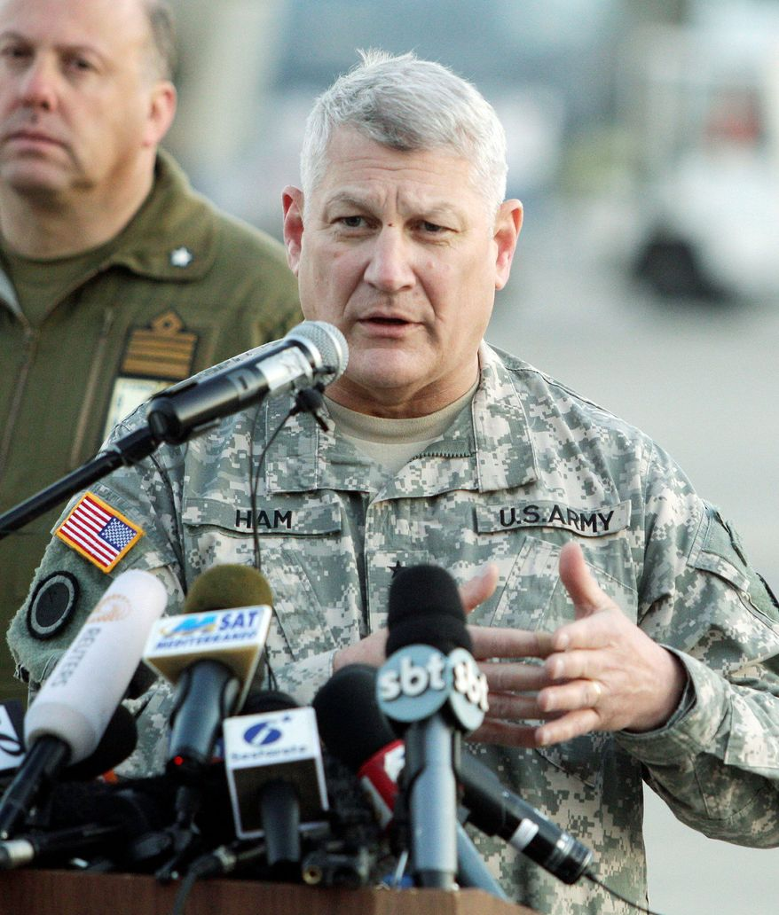 Gen. Carter Ham, head of U.S. Africa Command, said Africa-based terrorist groups are sharing their training, funding and bomb-making materials. They pose a threat to the U.S. and the region, he said. (Associated Press)