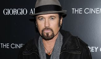 "**FILE** Singer Billy Ray Cyrus attends a special screening of ""Albert Nobbs"" at the Museum of Modern Art in New York on Dec. 13, 2011. (Associated Press)"