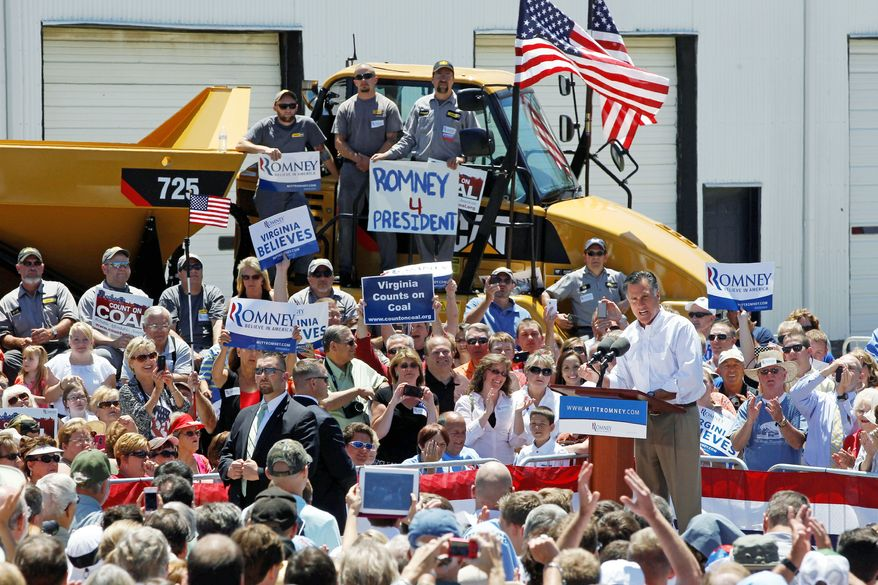 Republican presidential candidate Mitt Romney makes his pitch Tuesday at Carter Machinery Company Inc., in Salem, Va. Now he's facing calls for more specifics on policies. (Associated Press)