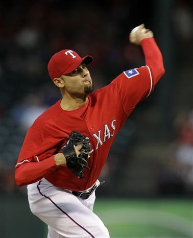 The Nationals signed 34-year-old left-handed reliever Mike Gonzalez after he finished last season with the Texas Rangers. He was dealt there from the Baltimore Orioles on Aug. 31, 2011. (Associated Press)