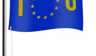 Illustration IOU EU by Alexander Hunter for The Washington Times