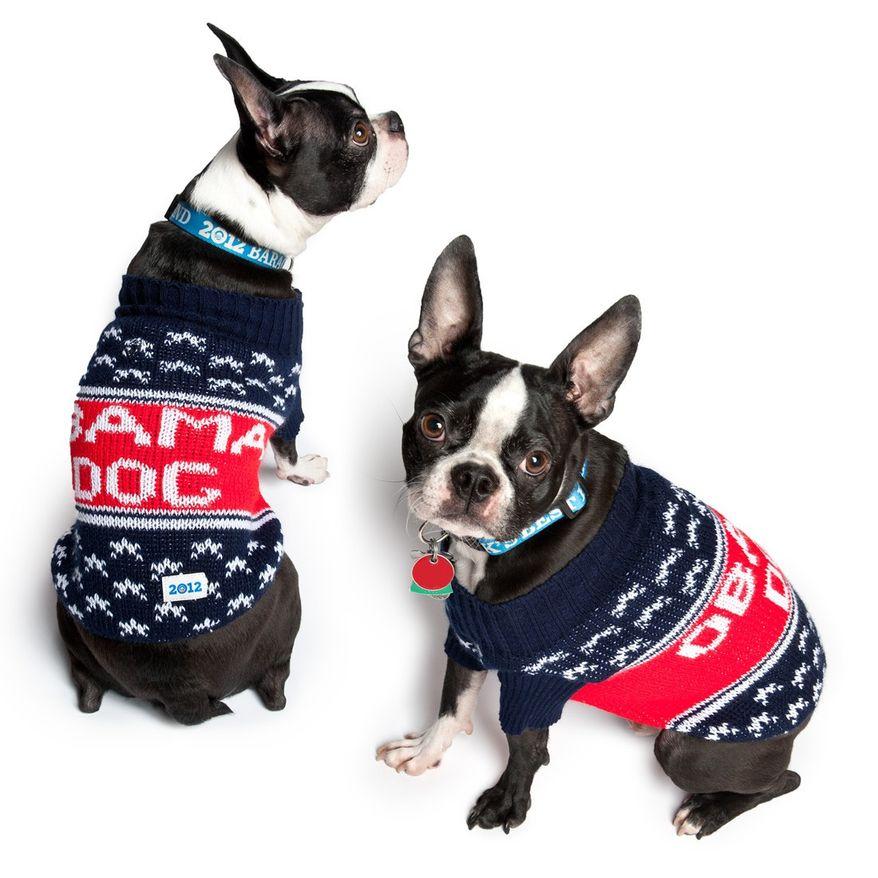 Obama 2012 dog sweater