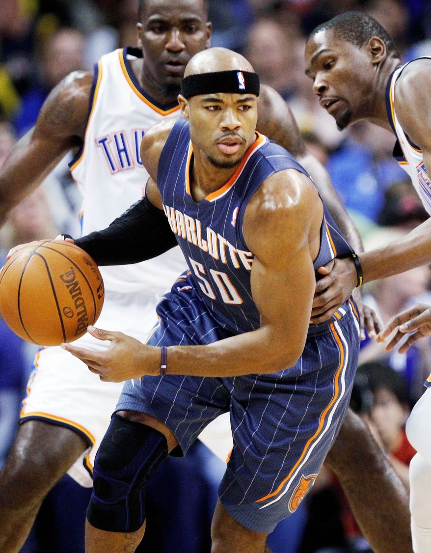 Veteran small forward Corey Maggette was on the go Tuesday night after the Charlotte Bobcats traded him to the Detroit Pistons for guard Ben Gordon and a future first-round pick. (Associated Press)