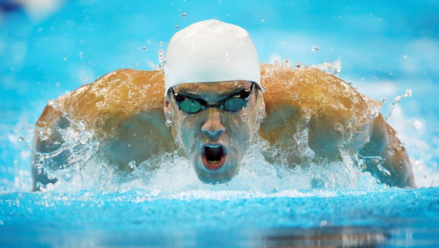 Michael Phelps (above) and Ryan Lochte will continue their pool duel in the 100-meter freestyle preliminaries Thursday morning. (Associated Press)