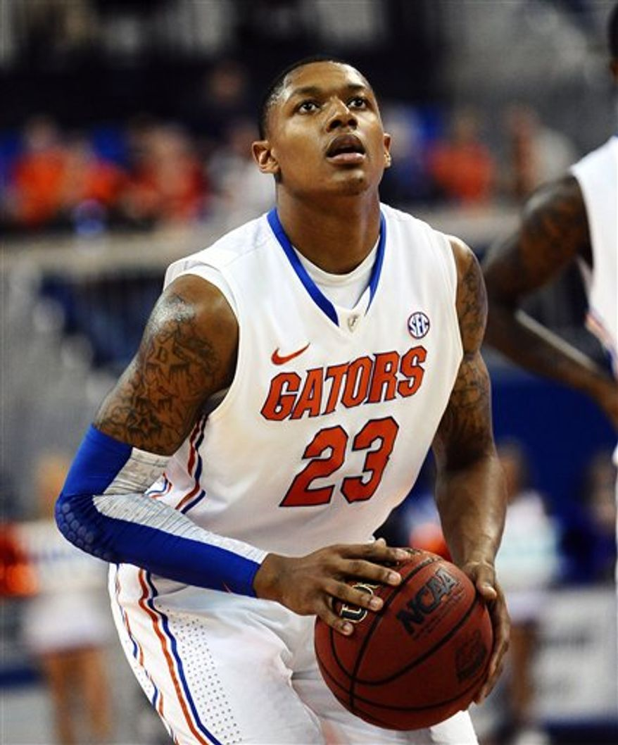 In need of a pure shooter, Florida guard Bradley Beal may be a target for the Wizards with the No. 3 pick in Thursday's NBA draft. (Associated Press)