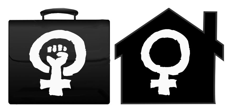 Illustration Feminist Utopia by John Camejo for The Washington Times