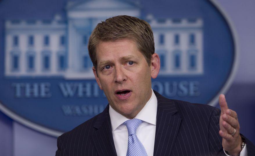 ** FILE ** White House press secretary Jay Carney (AP Photo/Carolyn Kaster)