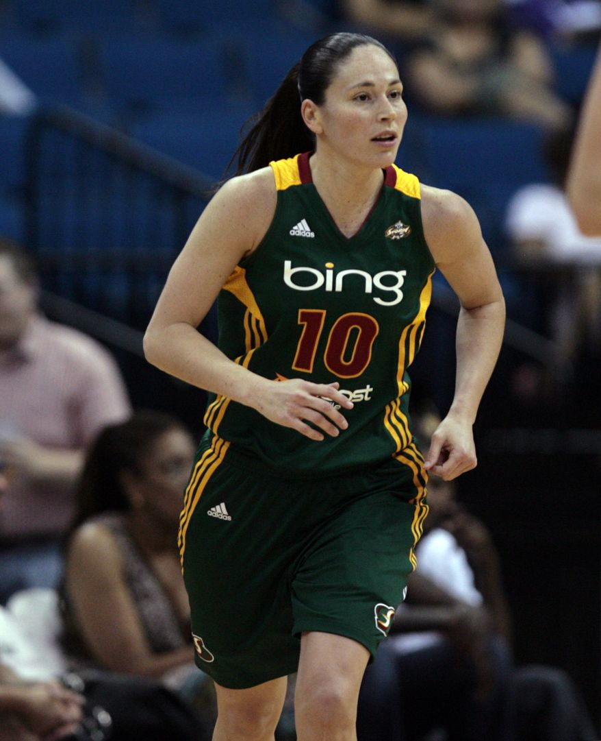 Sue Bird had 25 points as the Seattle Storm defeated the Washington Mystics on Tuesday night to win their fifth straight game. (Associated Press)