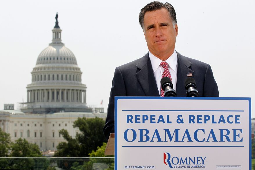 The Capitol was a backdrop for Republican presidential candidate Mitt Romney as he responded to the Supreme Court's health care ruling on Thursday. Analysts say the ruling could fire up support for Mr. Romney's campaign. He has said he will abolish the Obama health care law if he is elected president. (Associated Press)