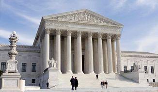 ** FILE ** This Jan. 25, 2012, file photo shows the U.S. Supreme Court Building in Washington. (AP Photo/J. Scott Applewhite, File)