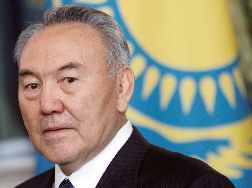 **FILE** Kazakh President Nursultan Nazarbayev (Associated Press)
