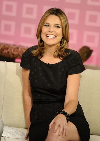 """**FILE** """"Today"""" show co-host Savannah Guthrie appears Aug. 10, 2011, on the set during a broadcast in New York. (Associated Press/NBC)"""