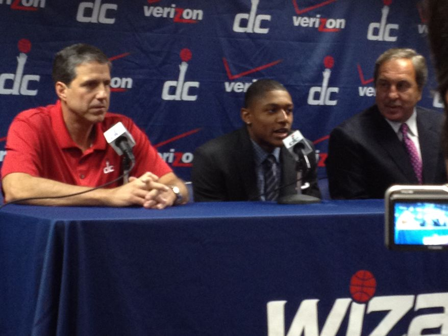 The Washington Wizards introduced their first round pick Bradley Beal in a news conference Friday
