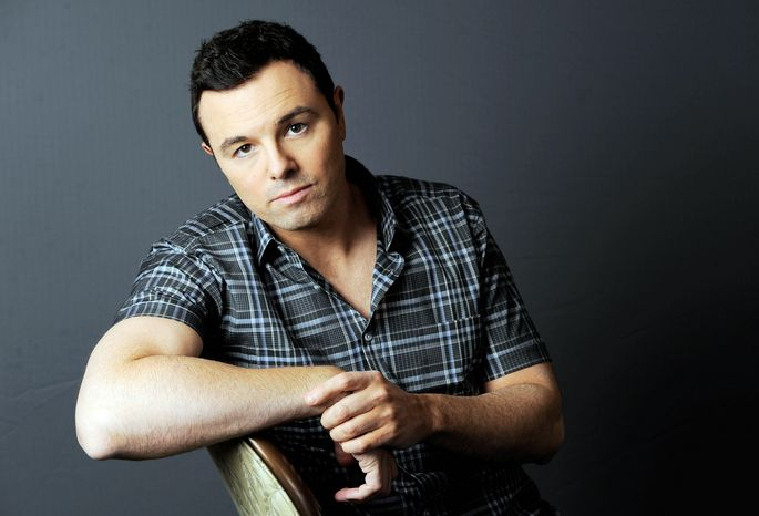 """Seth MacFarlane, who has found success on the small screen and voice animation, says he is expanding his horizons with """"Ted"""" because """"I like things that scare me a little bit."""" (Invision via Associated Press"""""""