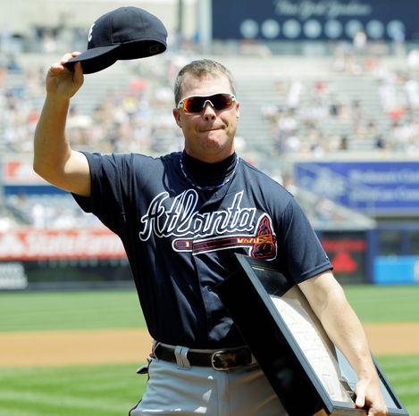 Atlanta Braves third baseman Chipper Jones will retire at the end of this season. (Associated Press)