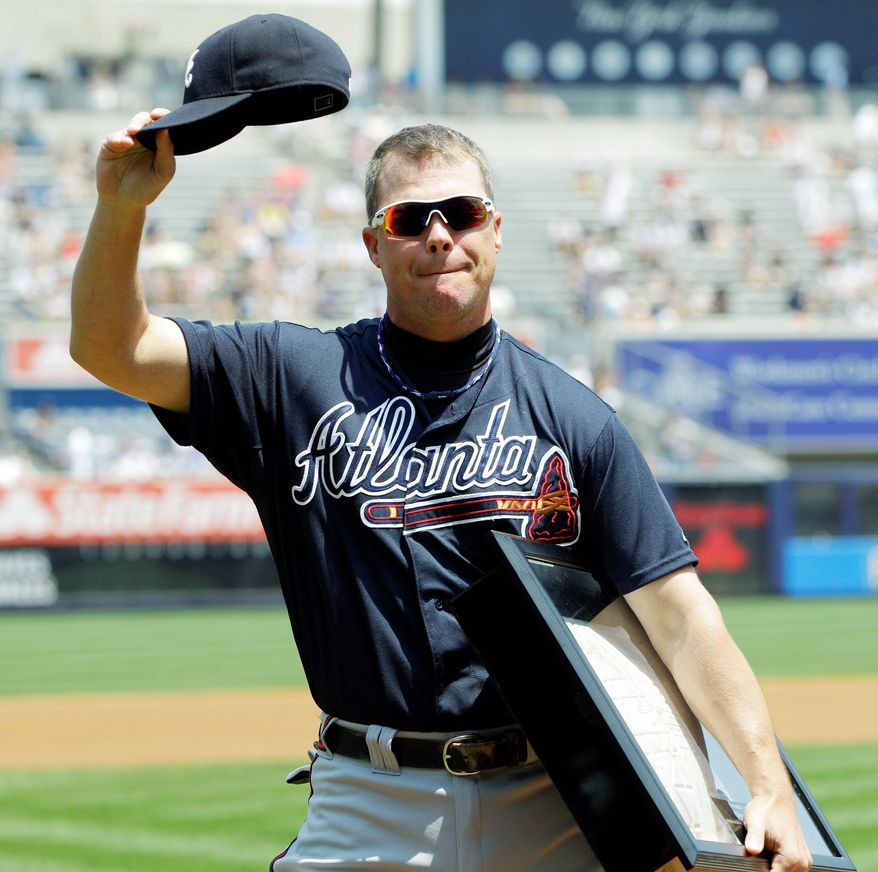 Atlanta Braves third baseman Chipper Jones will retire at the end of this season. (Associated Press)