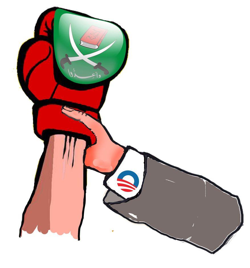 Illustration Obama lost Egypt by John Camejo for The Washington Times
