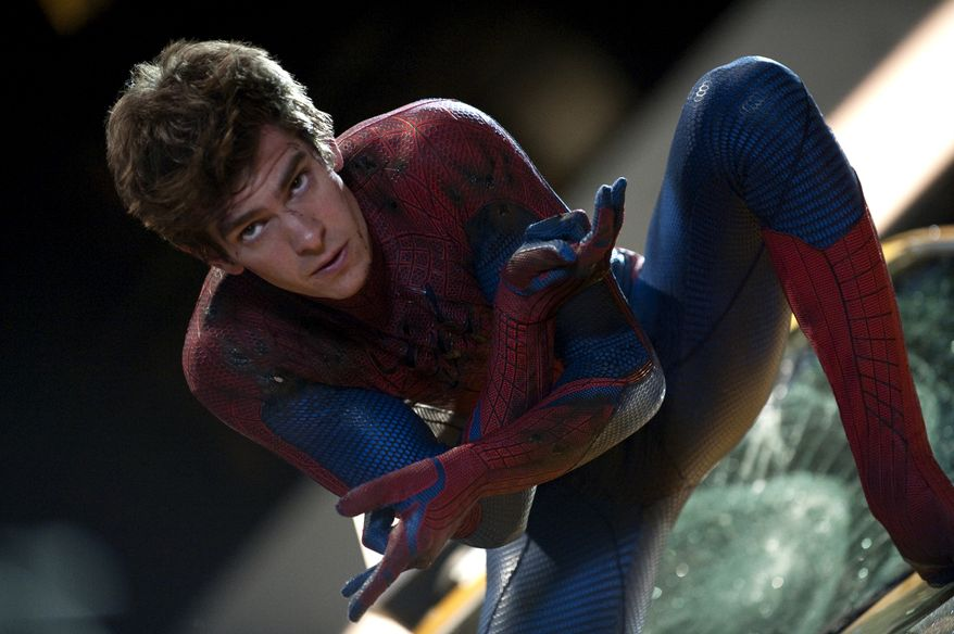 """Andrew Garfield is shown in a scene from """"The Amazing Spider-Man."""" (Associated Press/Columbia - Sony Pictures)"""