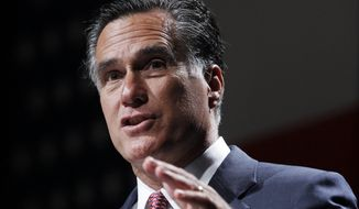 **FILE** Republican presidential candidate Mitt Romney speaks June 21, 2012, in Orlando, Fla. (Associated Press)