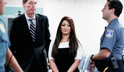 """Jersey Shore"""" cast member Deena Cortese had to step foot into court after dancing in the street. (Associated Press)"""