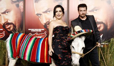"""Cast members Danny McBride and Ana de la Reguera are helping pitch the second season of HBO's """"Eastbound and Down."""" (Associated Press)"""