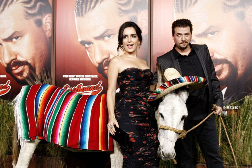 "Cast members Danny McBride and Ana de la Reguera are helping pitch the second season of HBO's ""Eastbound and Down."" (Associated Press)"