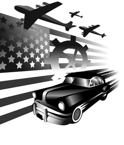 Illustration American Cars by Linas Garsys for The Washington Times