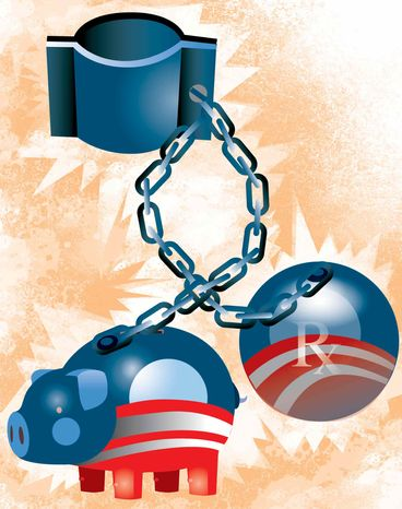 Illustration Obamatax by Linas Garsys for The Washington Times