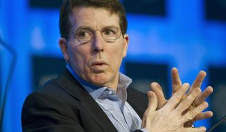 ** FILE ** Bob Diamond, chief executive of Barclays bank, listens during a plenary session at the World Economic Forum meeting in Davos, Switzerland, in January 2010. (AP Photo/Keystone, Laurent Gillieron)