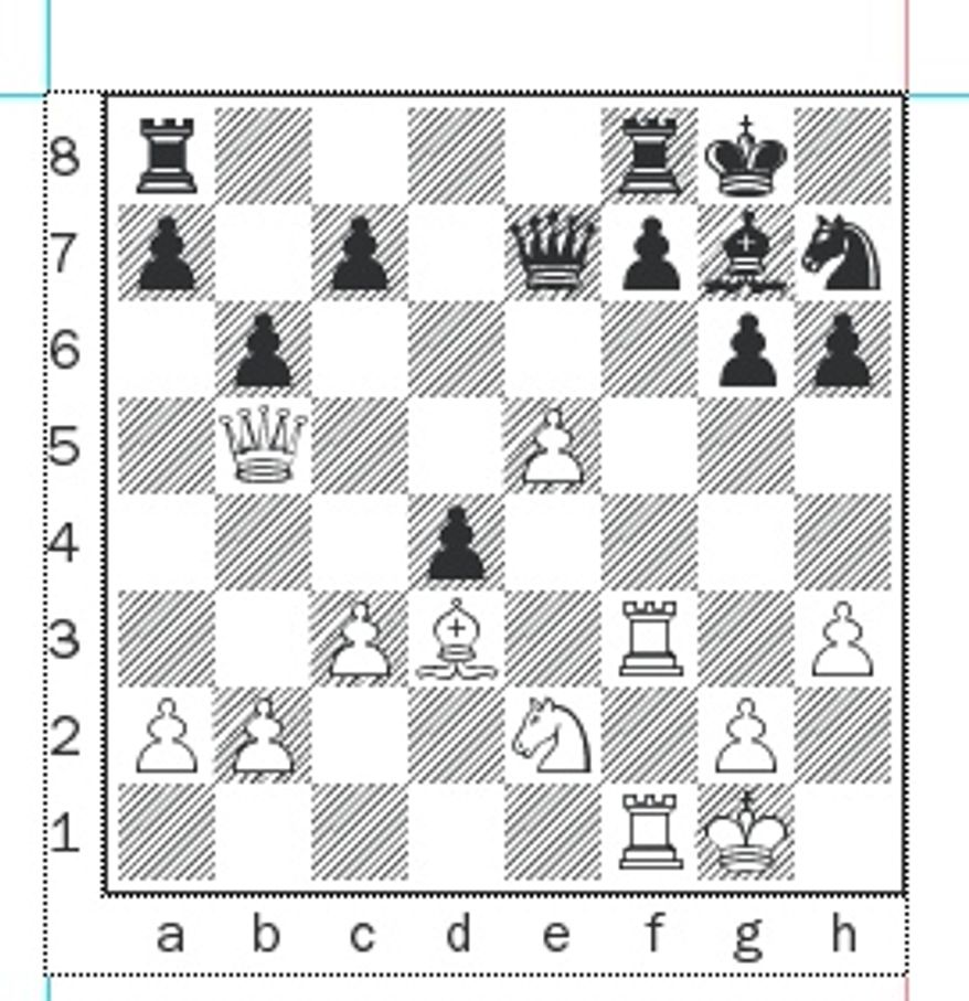 Fedoseev-Zubov after 18...Nh7.