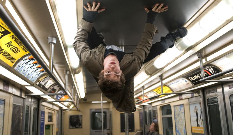"""Andrew Garfield portrays Peter Parker and Spider-Man in a scene from """"The Amazing Spider-Man."""" (Associated Press/Columbia - Sony Pictures)"""