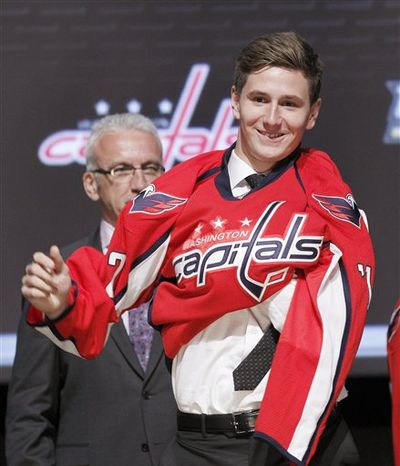 Filip Forsberg was the Capitals' first pick in the 2012 draft, taken 11th overall. (Associated Press)