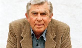 Actor Andy Griffith, pictured in 1987, died on Tuesday, July 3, 2012, at age 86. (AP Photo/Doug Pizac)