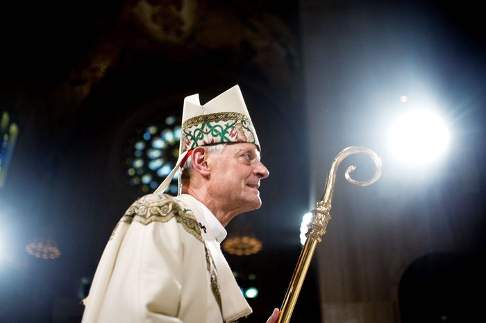 ** FILE ** Cardinal Donald W. Wuerl at the Basilica of the National Shrine of the Immaculate Conception, Washington D.C., Wednesday, July 4, 2012. Wuerl is the archbishop of the Washington area. (Ryan M.L. Young/The Washington Times)