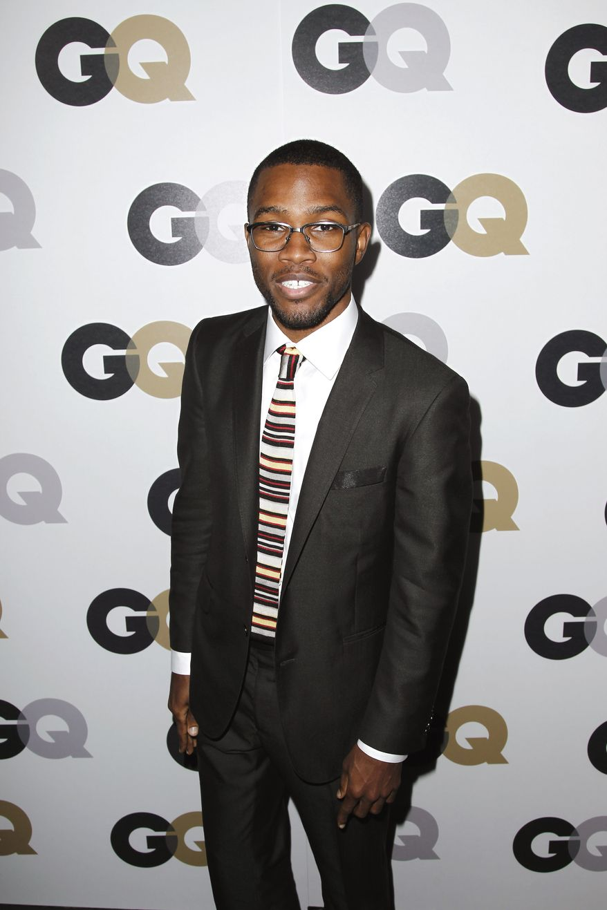 "**FILE** Frank Ocean arrives Nov. 17, 2011, at the 16th annual GQ ""Men of the Year"" party in Los Angeles. (Associated Press)"