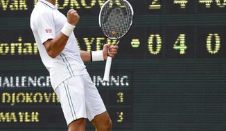 Novak Djokovic is 12-14 all-time against Roger Federer but 6-1 since the start of 2011. (Associated Press)