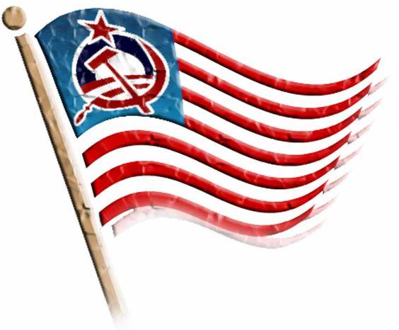 Illustration Socialist Flag by John Camejo for The Washington Times