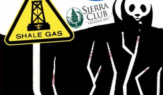 Illustration EPA and Fracking by John Camejo for The Washington Times